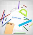 education school concept vector image vector image