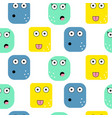 emoji faces seamless pattern vector image vector image