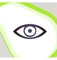 Eye Retro-style emblem icon pictogram EPS 10 vector image vector image