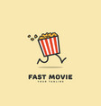 fast movie logo vector image