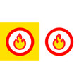 fire flame burn sign symbol burning fire flame vector image vector image