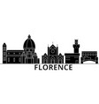 florence architecture city skyline travel vector image vector image
