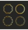 golden outline emblems and badges frames vector image