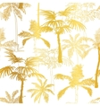 Golden Palm Trees Summer Seamless Pattern vector image vector image