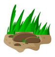 grass and rocks cartoon symbol icon design vector image