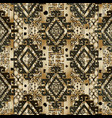 greek 3d textured seamless pattern gold black vector image vector image