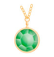 green peridot mockup realistic style vector image vector image