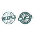 grunge stamp and silver label dye free vector image vector image