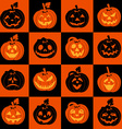Halloween icon set of pumpkins vector image vector image