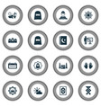 holiday icons set with mecca islam book mubarak vector image vector image