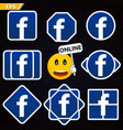 Icon of the popular social network logo logo