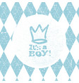 its a boy lettering baby shower party design vector image vector image