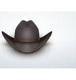Light Background Black cowboy hat vector image vector image