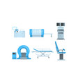 medical surgery and examination rooms equipment vector image