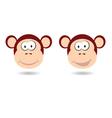 monkey funny face vector image vector image