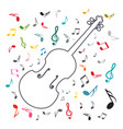 music background with notes and violin abstract vector image
