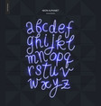 neon alphabet 2 vector image vector image