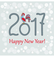new year card with rooster vector image