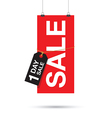 one day sale sign vector image vector image