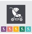 Pram flat icon vector image vector image