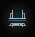 printer creative outline icon on dark vector image