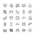 public utilities flat line icons rent receipt vector image