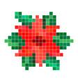 red pixel flower vector image vector image
