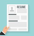 resume vector image vector image