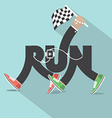 Run With Legs Typography Design vector image vector image