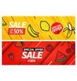 season sale banners set special offer vouchers vector image vector image