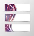 set banner wavy design vector image vector image
