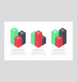 set green and black red elements vector image vector image
