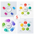set modern circle charts infographic designs vector image vector image