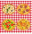 Set pizza on the italian table vector image vector image