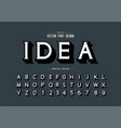 shadow font and alphabet idea typeface letter vector image vector image