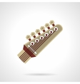 Six-string guitar head flat color icon vector image
