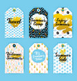summer trendy hipster gift labels vector image vector image