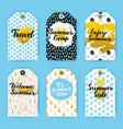 summer trendy hipster gift labels vector image