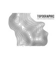 topographic map contour background topo map with vector image vector image