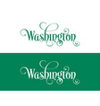 typography of the usa washington states vector image vector image
