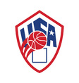 United States USA American Basketball Ball Shield vector image vector image