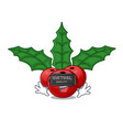 virtual reality christmas holly berry with vector image vector image
