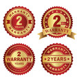 warranty labels 2 years vector image vector image