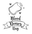 world blood donor day design hand draw vector image vector image