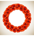 Wreath of Poppies vector image vector image