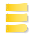 Yellow Paper Notes with Clips vector image vector image