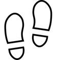 shoe prints line icon vector image