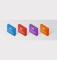 modern isometric infographics steps elemsnts vector image