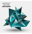 3D Low Polygon Geometry Background Abstract vector image