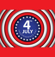 4th july independence day usa circle vector image vector image